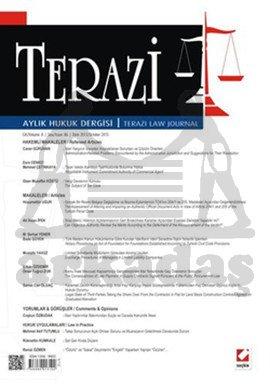 Terazi Aylık Hukuk Dergisi Sayı:86 Ekim 2013