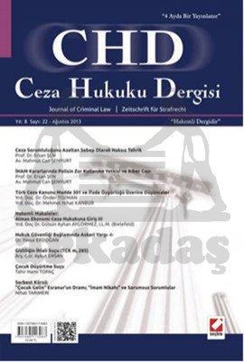 Ceza Hukuku Dergisi Sayı: 22 Ağustos 2013