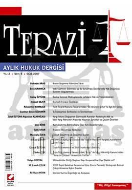 Terazi Aylık Hukuk Dergisi Sayı:5 Ocak 2007