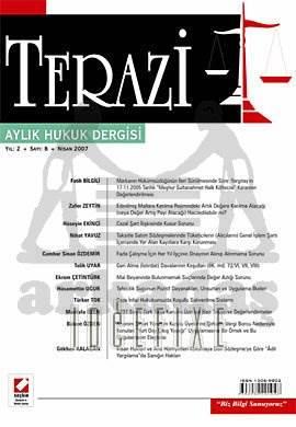 Terazi Aylık Hukuk Dergisi Sayı:8 Nisan 2007