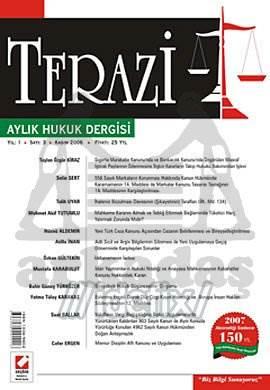 Terazi Aylık Hukuk Dergisi Sayı:3 Kasım 2006