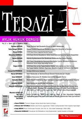 Terazi Aylık Hukuk Dergisi Sayı:23 Temmuz 2008
