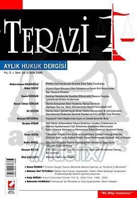 Terazi Aylık Hukuk Dergisi Sayı:26 Ekim 2008