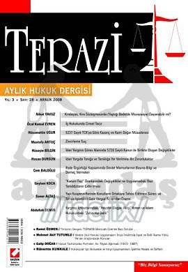 Terazi Aylık Hukuk Dergisi Sayı:28 Aralık 2008