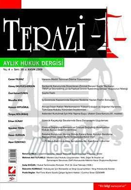 Terazi Aylık Hukuk Dergisi Sayı:39 Kasım 2009