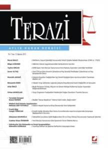 Terazi Aylık Hukuk Dergisi Sayı:72 Ağustos 2012