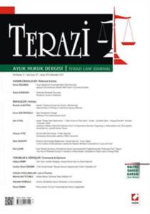 Terazi Aylık Hukuk Dergisi Sayı:87 Kasım 2013