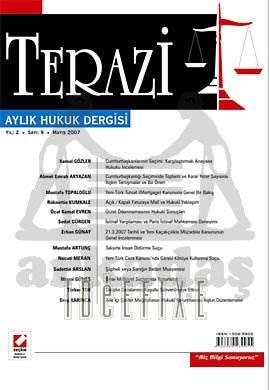 Terazi Aylık Hukuk Dergisi Sayı:9 Mayıs 2007