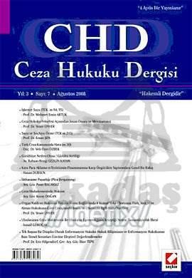 Ceza Hukuku Dergisi Sayı:7 Ağustos 2008