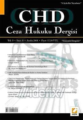 Ceza Hukuku Dergisi Sayı:8 Aralık 2008