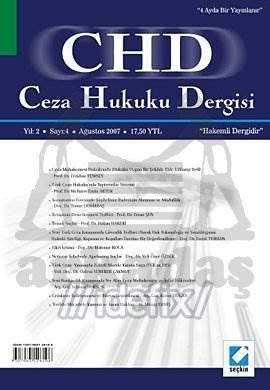 Ceza Hukuku Dergisi Sayı:10 Ağustos 2009