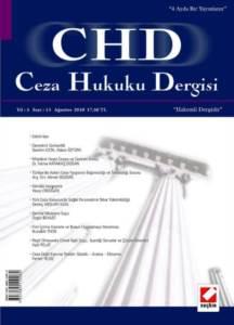 Ceza Hukuku Dergisi Sayı:13 Ağustos 2010