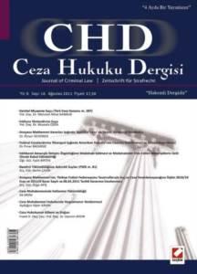 Ceza Hukuku Dergisi Sayı:16 Ağustos 2011