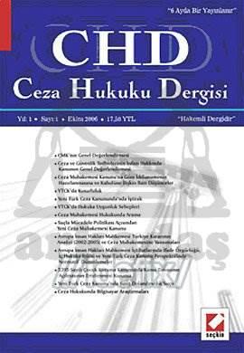 Ceza Hukuku Dergisi Sayı:1 Eylül 2006