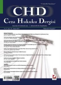 Ceza Hukuku Dergisi Sayı: 24 Nisan 2014