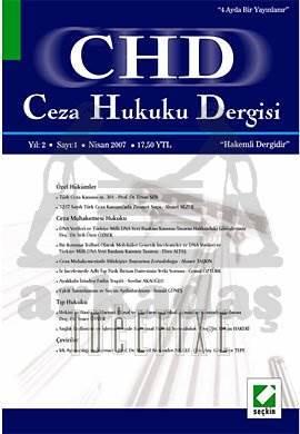 Ceza Hukuku Dergisi Sayı:1 Nisan 2007