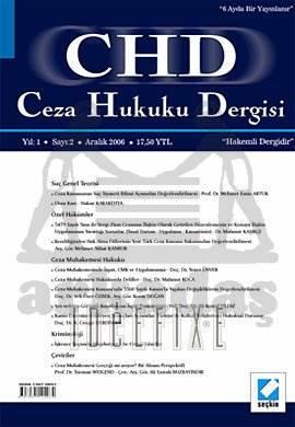 Ceza Hukuku Dergisi Sayı:2 Aralık 2006