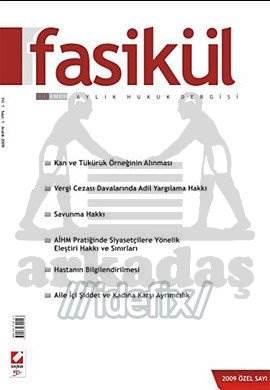 Fasikül Aylık Hukuk Dergisi Sayı:1 Aralık 2009