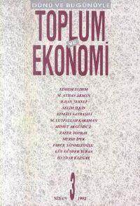 Toplum Ve Ekonomi