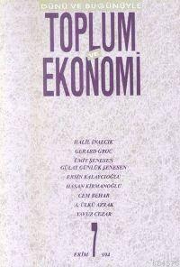 Toplum Ve Ekonomi;  Sayı 7 Ekim 1994