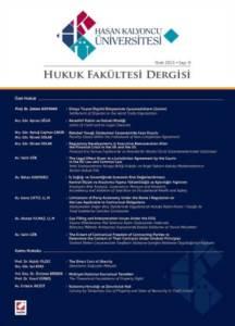 Hasan Kalyoncu Üniversitesi Hukuk Fakültesi Dergisi Sayı:9 Ocak 2015