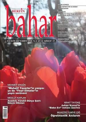 Berfin Bahar Dergisi Sayı: 232; Aylık Kültür Sanat Ve Edebiyat Dergisi