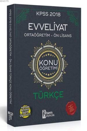 Evveliyat KPSS Ortaöğretim-Önlisans Türkçe Konu Anlatımı 2018