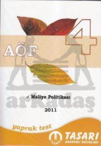 AÖF Yaprak Test 4: Maliye Politikası