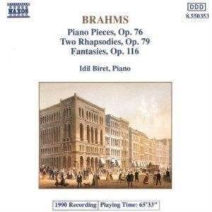 Brahms Piano Pieces Opp 76, 79 Cd