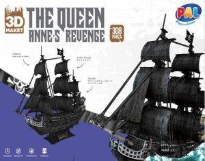 The Queen - Siyah<br/>İnci Büyük Boy 3D