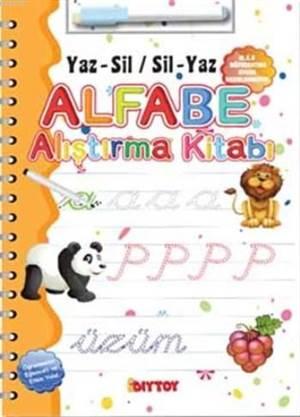 Alfabe Alıştırma Kitabı; Yaz-Sil Sil-Yaz