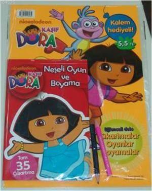Kaşif Dora Neşeli Oyun ve Boyama Seti (Kalem Hediyeli)