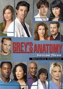 Greys Anatomy Sezon 3 (DVD)
