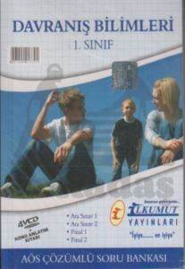 İlkumut AÖS Çözümlü Soru Bankası Davranış Bilimleri 1. Sınıf (4 VCD + 1 Kitap)