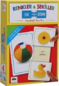 Çek Öğren Hareketli Kartlar - Renkler ve Şekiller