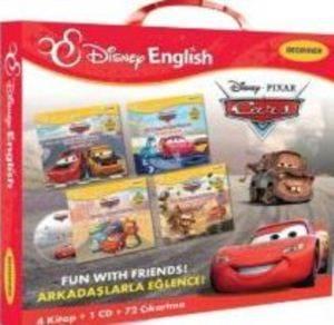Disney English Beginner - Cars  (Arkadaşlarla Eğlence) Çantalı Set 4 Kitap+1 CD+72 Çıkartma