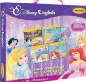 Disney English Beginner - Happy Princesses (Mutlu Prensesler) Çantalı Set 4 Kitap+1 CD+72 Çıkartma