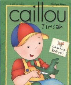 Caillou Timsah Faailet Kitabı Çıkartma Hediyeli