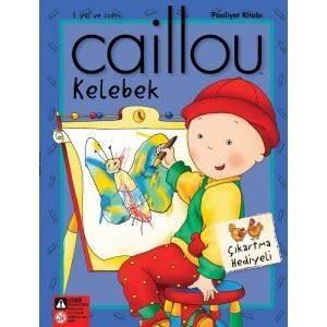 Caillou Kelebek Faailet Kitabı Çıkartma Hediyeli