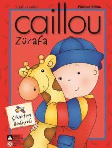 Caillou Zürafa Faailet Kitabı Çıkartma Hediyeli