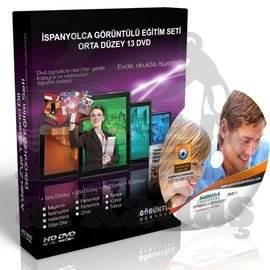 İspanyolca Görüntülü Eğitim Seti Orta Düzey 13 DVD