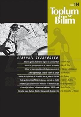 Toplum ve Bilim Sayı :114 (Şubat 2009)