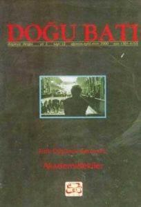 Doğu BAtı 12-Türk Düşünce Serüveni:Akademidekiler
