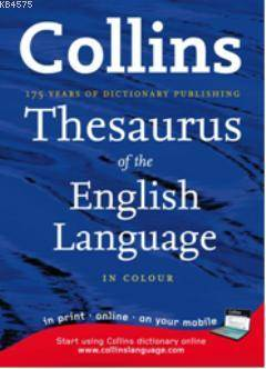 Collins Thesaurus Of English Language