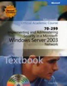 Official Academic Course 70-299 Windows