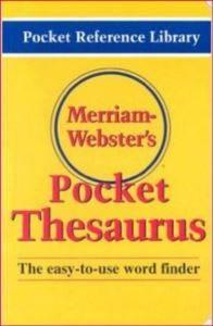 Merriam Webster's Pocket Thesaurus