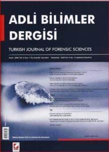 Adli Bilimler Dergisi - Cilt:1 Sayı:2 Aralık 2002