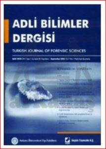 Adli Bilimler Dergisi - Cilt:2 Sayı:3 Eylül 2003