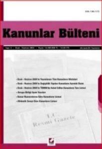 Kanunlar Bülteni Sayı: 1-2 (Ocak - Aralık 2002)