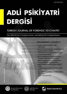 Adli Psikiyatri Dergisi – Cilt:2 Sayı:2 Nisan 2005